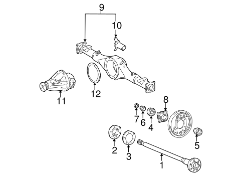 REAR SUSPENSION/AXLE & DIFFERENTIAL for 1996 Toyota Tacoma #1