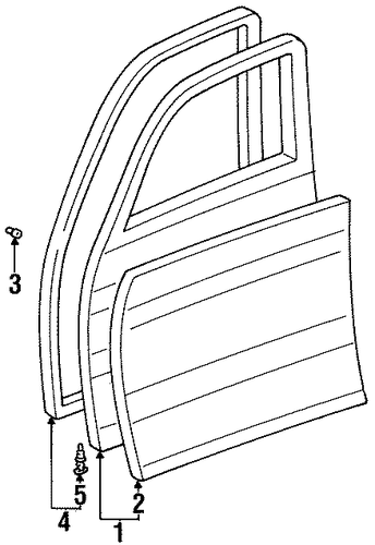 Door Shell - Toyota (67001-60343)