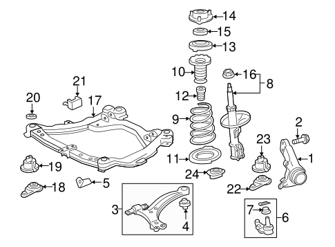 FRONT SUSPENSION/SUSPENSION COMPONENTS for 2012 Toyota Camry #1