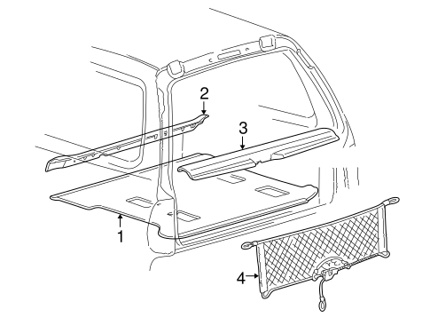 Interior Trim Rear Body For 2000 Ford Excursion