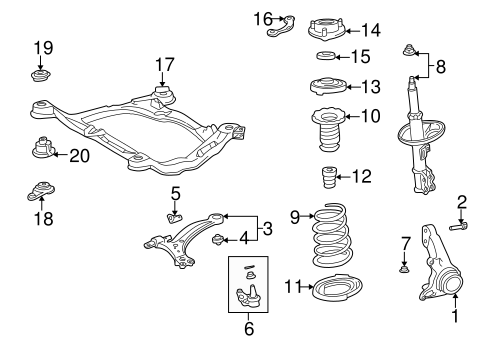 FRONT SUSPENSION/SUSPENSION COMPONENTS for 1997 Toyota Camry #1