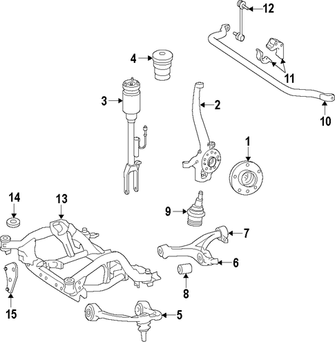 Suspension components for 2014 mercedes benz gl450 for Mercedes benz gl450 parts catalog
