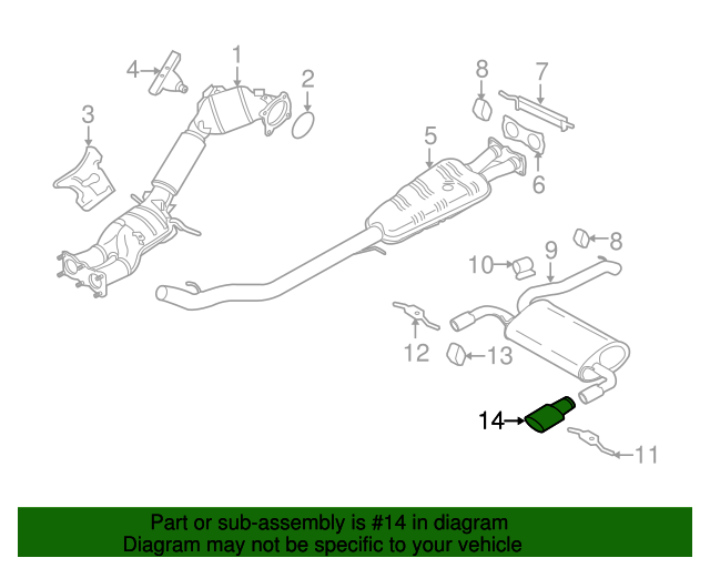 Tailpipe Extension - Volvo (31392521)
