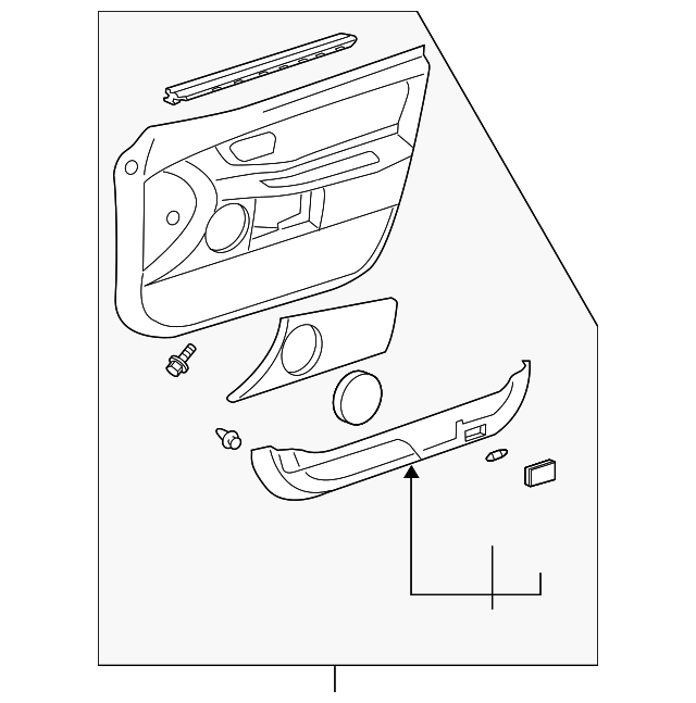 Door Trim Panel - Toyota (67610-AC180-A1)