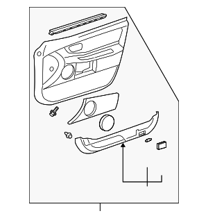 Door Trim Panel - Toyota (67620-AC902-B2)