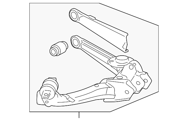 OEM Honda 52371-SNA-A06 - Arm, L Rear Trailing