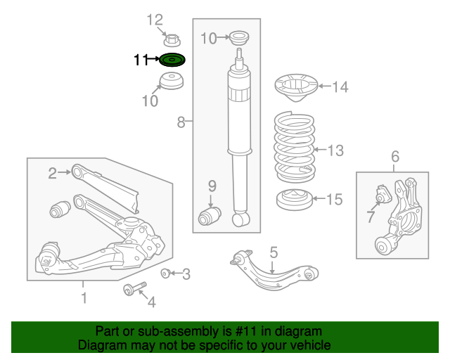 1996 Honda ACCORD COUPE EX WASHER, RR. SHOCK ABSORBER MOUNTING (SHOWA) - (52621SB2004)