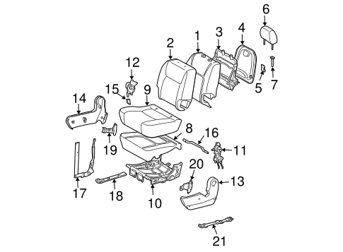 BODY/REAR SEAT COMPONENTS for 2010 Toyota Sienna #3
