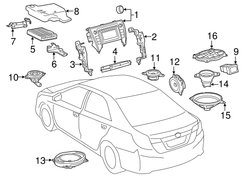 BODY/SOUND SYSTEM for 2015 Toyota Camry #1