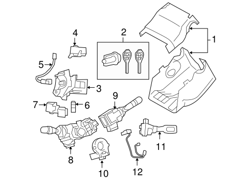 STEERING/SHROUD, SWITCHES & LEVERS for 2006 Toyota RAV4 #1