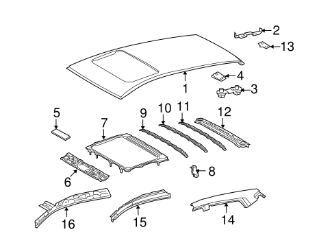 Roof Rail - Toyota (61211-02170)