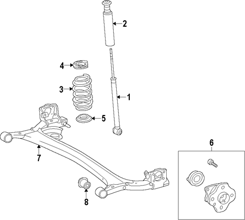 REAR SUSPENSION/REAR AXLE for 2014 Scion iQ #1