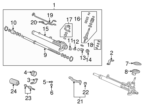 OEM Honda 53416-S04-J51 - Rack Guide