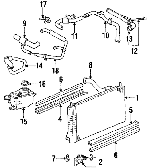 RADIATOR & COMPONENTS for 1999 Ford Taurus