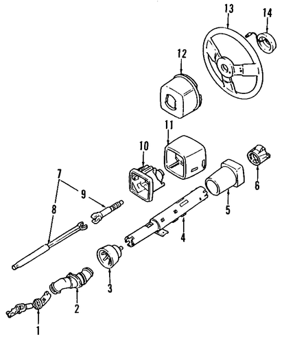Oem Steering Column Assembly For 1988 Buick Reatta