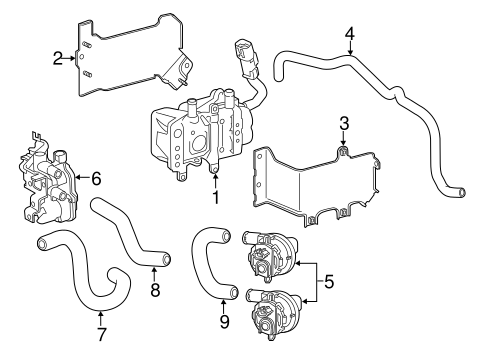 OEM Honda 79931-T3V-A01 - Bracket, Electric Coolant Heater (A)