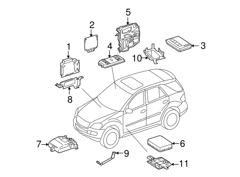 components for 2007 mercedes gl320 oemmercedes