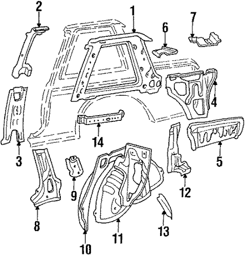 Reinforcement - Toyota (61303-16040)