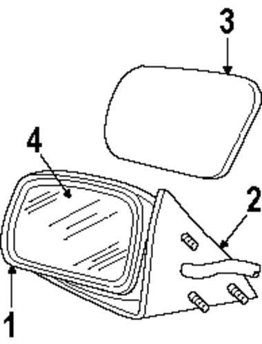 BODY/OUTSIDE MIRRORS for 1992 Ford Crown Victoria #1