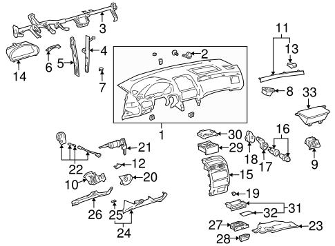 Center Brace - Toyota (55307-AA011)