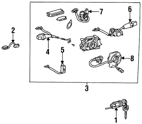STEERING/SHROUD, SWITCHES & LEVERS for 1996 Toyota Corolla #1