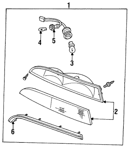 1996 Lincoln Mark Viii Interior: CHASSIS For 1996 Lincoln Mark VIII