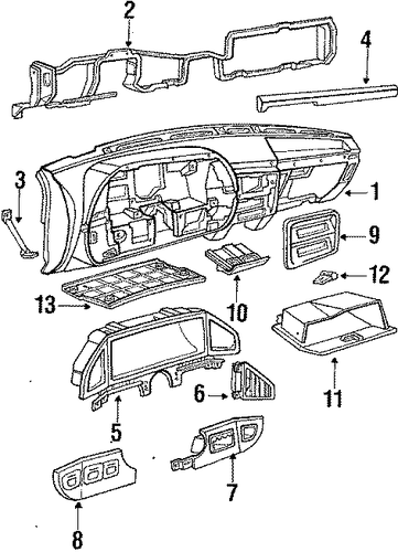 instrument panel for 1988 ford f