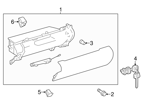 Glove Box Assembly - Toyota (55303-06400-A0)