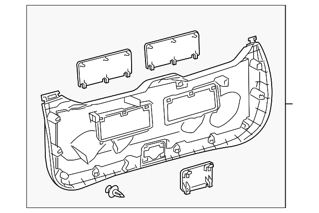 Lower Trim Panel - Toyota (67750-47050-E0)