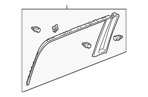 OEM Honda 83761-SHJ-A21ZA - Window Trim