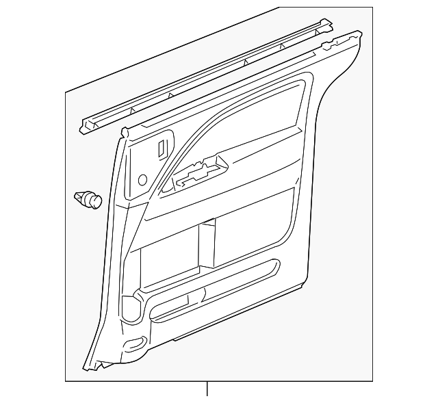 OEM Honda 83752-SHJ-A42ZE - Door Trim Panel