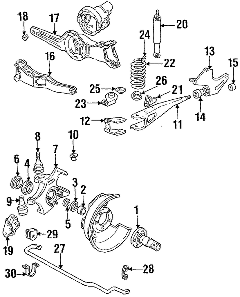 axle pivot bracket for 1993 ford f