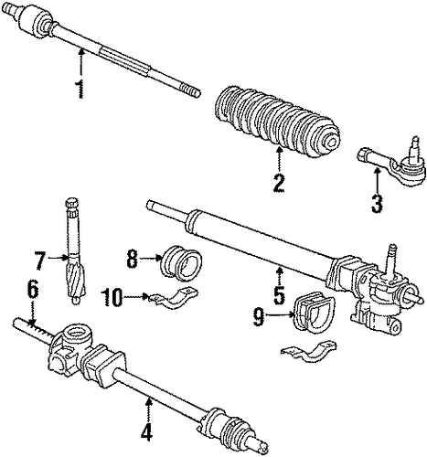 OEM Honda 53540-SC2-004 - End, R Tie Rod