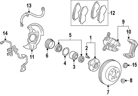 BRAKES/BRAKE COMPONENTS for 1998 Toyota Celica #1