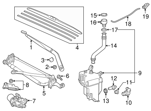 BODY/WIPER & WASHER COMPONENTS for 2014 Toyota Highlander #1