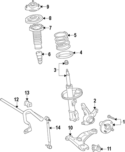 FRONT SUSPENSION/SUSPENSION COMPONENTS for 2014 Toyota Prius V #1