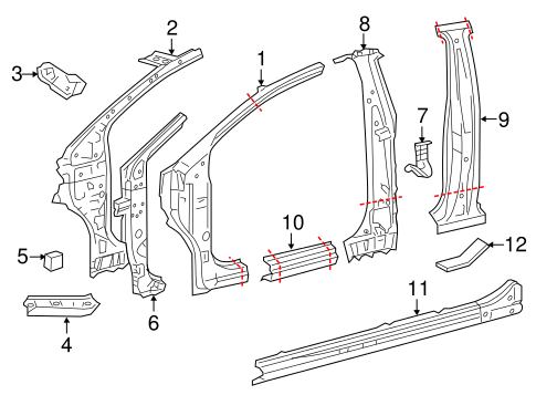 BODY/HINGE PILLAR for 2012 Toyota Yaris #2