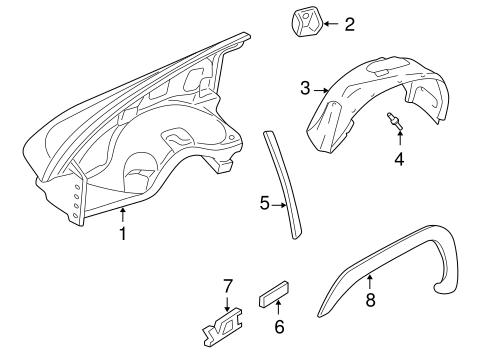 Exterior Trim Fender Scat