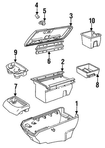 oem floor console for 1994 chevrolet suburban k1500