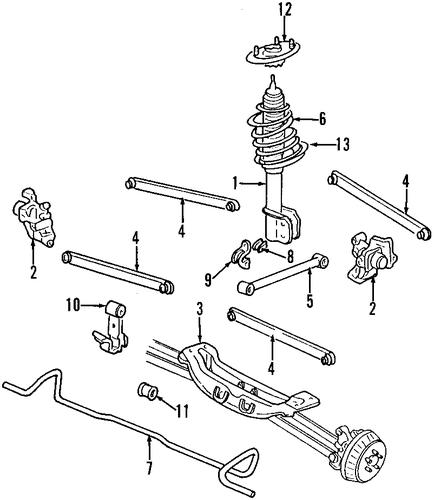 1996 Oldsmobile Ciera Suspension: REAR SUSPENSION Parts For 1997 Oldsmobile Cutlass Supreme