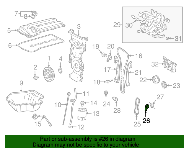 Tension Arm - Toyota (13549-28012)
