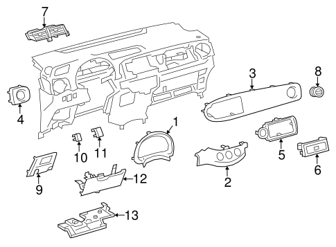 Air Vent - Toyota (55670-52080-C0)