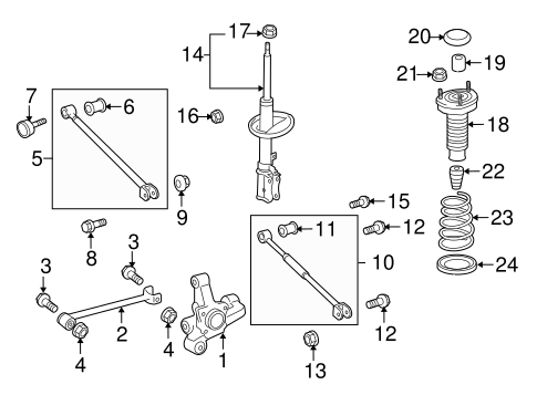 REAR SUSPENSION/REAR SUSPENSION for 2011 Toyota Venza #2