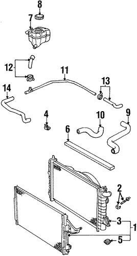 radiator  u0026 components for 1999 saturn sc1