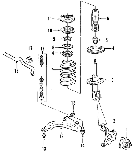 suspension components for 2005 saturn relay