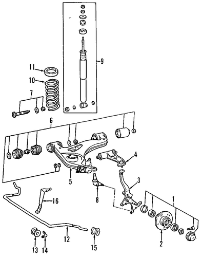 front suspension for 1997 mercedes
