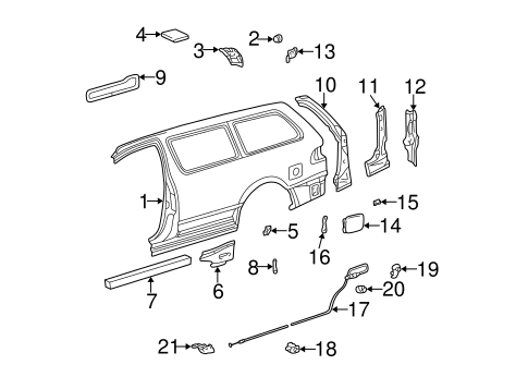 BODY/SIDE PANEL & COMPONENTS for 1999 Toyota Sienna #1
