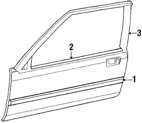 1988 Honda ACCORD COUPE LXI Molding Assembly, L Door - (72450SE0A02)