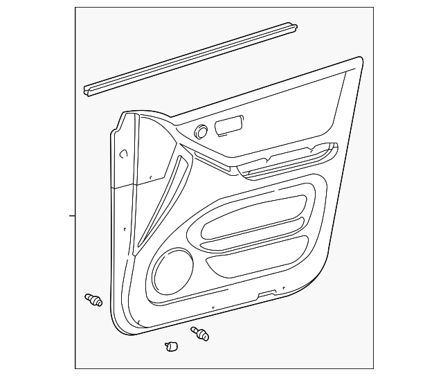 Door Trim Panel - Toyota (67610-48361-B0)