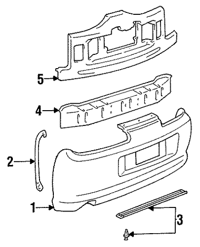 BODY/BUMPER & COMPONENTS - REAR for 1996 Toyota Supra #1